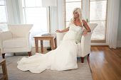 Bride Posing in a Chair