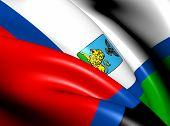 Flag Of Belgorod Oblast, Russia.