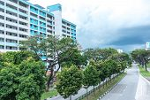 Aerial View, On A Cloudy Day, Of Public Housing Apartments In Singapore. Also Known As Hdb, These Ar poster