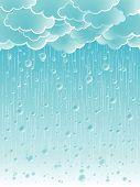 Light Raindrops Weather Background