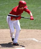 Harrisburg Senators Chris McConnell attempts a bunt