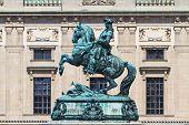 Statue von Prinz Eugen von Savoyen vor Hofburg Palast, Wien