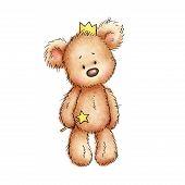 Teddy Bear In Crown