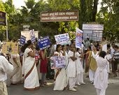 Peace Rally Outside Gandhi Museum