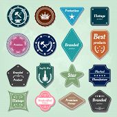 stock photo of anvil  - Set of badges and labels logo background - JPG