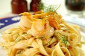 Fettucini With Sea Scallops