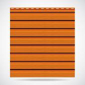 Siding Texture Panel Orange Color