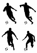 foto of olympiad  - Abstract vector illustration of football palyers silhouettes - JPG