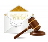 Bankruptcy Petition Document Papers And Gavel