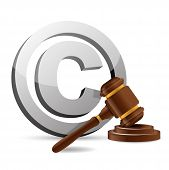 Copyright Symbol And Gavel