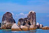rock island at belitung island,indonesia