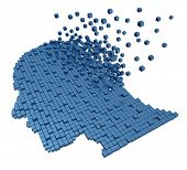 stock photo of three dimensional shape  - Memory loss due to Dementia and Alzheimer - JPG