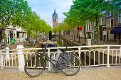 old town of Delft in spring, Holland