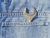 Lug wrench in a pocket