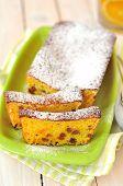 Orange Loaf Cake with Sultanas