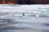 German River Main Frozen Over