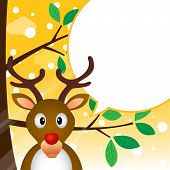 Reindeer speaking with a speech bubble