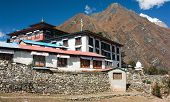 Tengboche - Buddhist Tibetan Monastery in Khumbu, Mont Everest region, Nepal. Sagarmatha National Pa