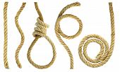 image of lasso  - Figures and a loop of rope rough - JPG