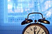 Old-fashioned Copper Alarm Clock