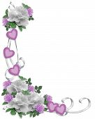 Wedding Roses Lavender Hearts
