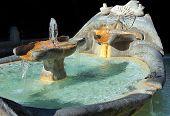 Fountain Old Boat By Pietro Bernini In Rome