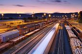 picture of railroad car  - Cargo transportatio with many Trains and Railways - JPG