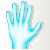 Blue Hand.