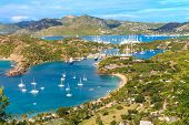 Antigua Bucht Luftbild, Falmouth Bucht, english Harbour, antigua