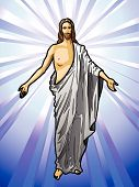 stock photo of evangelism  - Vector illustration of the Resurrected Jesus Christ - JPG