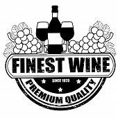 Finest Wine Stamp