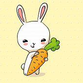 Hiding Easter Bunny Card In Vector Format.