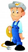 Electrician - Cartoon Character - Vector Illustration