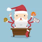 Santa Claus Busy