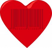 Heart with barcode