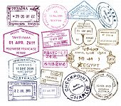 vector passport stamps