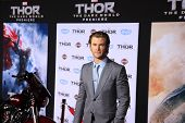 LOS ANGELES - NOV 4: Chris Hemsworth at the Marvel's 'Thor: The Dark World' Premiere at the El Capit