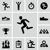 image of winner man  - Running icons - JPG