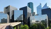 image of domination  - Modern buildings in the business district of La Defense to the west of Paris France - JPG