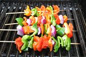 Fresh Sweet Pepper and Onion Kabobs 2