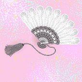 fan, vintage vector background