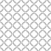Gray And White Interlaced Circles Textured Fabric Background
