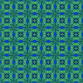 Turquoise Antique Pattern