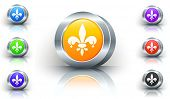 Fleur De Lis Color Button Set