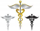 Caduceus Medical Symbol Illustration