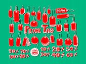 Price Tag Set VECTOR