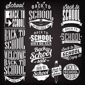 Back to School Calligraphic Designs Vintage Ornaments, Sale, Clearance , Vector Set