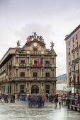 City Hall Square Pamplona In Spain