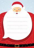 Santa claus christmas card. Vector illustration