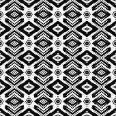 Ethnic pattern with hand drawn brushstrokes.